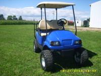 This is a 2007 Club Car Precedent with a new blue