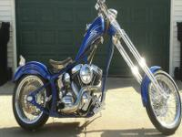 2007 Custom soft tail chopper. Paughco frame and