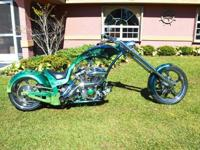 This is a custom softail chopper disigned from the