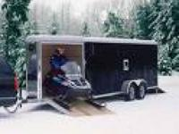 Description DCT enclosed trailer. 18 FT long V-front.