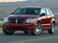 2007 Dodge Caliber SXTClean CARFAX. 30/26 Highway/City
