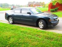 2007 Dodge Charger V6 sedan in Gray Metallic with Ebony