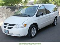 4D Passenger Van and one owner. White Beauty! All the