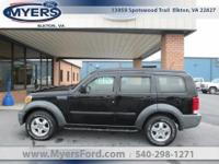 Local Trade. 2007 Dodge Nitro SXT 4x4. Black Clearcoat