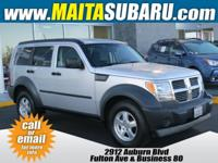 CARFAX One-Owner. Clean CARFAX. Silver 2007 Dodge Nitro