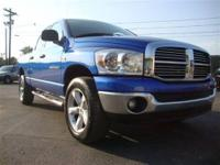 This 2007 Dodge Ram SLT Quad Cab 4WD is equipped with a