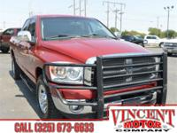 Flame Red Clearcoat 2007 Dodge Ram 2500 ABS brakes.