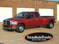 2007 DODGE RAM 3500 QUADCAB DUALLY 2WD/SLT. 5.9 CUMM.
