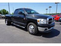 CARFAX One-Owner. Black 2007 Dodge Ram 3500 RWD 6-Speed