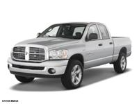 New Arrival! This 2007 Dodge Ram 1500 Includes *Please