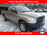 From mountains to mud, this Tan 2007 Dodge Ram 1500 SLT