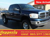 This 2007 Dodge Ram 2500 SLT in Patriot Blue Pearlcoat