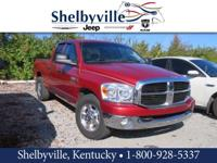 Clean CARFAX. Red 2007 Dodge Ram 2500 SLT RWD Cummins