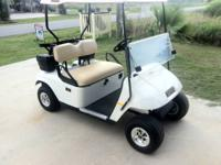 For sale 2008 ez go golf cart, white with nice tan