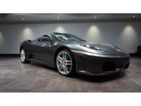 This 2007 Ferrari F430 Spider is featured in Grey over
