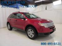 AWD. Gasoline! Red Hot! 2007 Ford Edge SE AWD.   Be