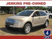 This 2007 Ford Edge SE, has a great Beige exterior, and