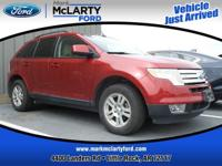 Recent Arrival! Red 2007 Ford Edge SEL FWD 18/25mpg