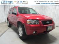 Options:  2007 Ford Escape Limited|Red|Awd|Heated