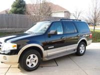 2007 Ford Expedition Eddie Bauer 4x4 loaded Black / Tan