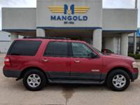 Red 2007 Ford Expedition XLT 4WD 6-Speed Automatic with
