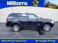 Clean CARFAX. Black Clearcoat 2007 Ford Explorer