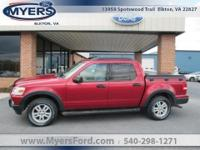 2007 Explorer Sport Trac. Red Fire Clearcoat Two Tone