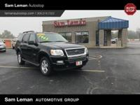 Recent Arrival! Black Clearcoat 2007 Ford Explorer XLT