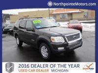 Options:  2007 Ford Explorer Xlt Black We Finance!
