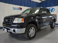 Black 2007 Ford F-150 Lariat 4WD 4-Speed Automatic with