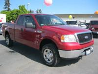 This well maintained 2007 Ford F-150 in Red has just