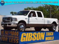 WWW.GIBSONTRUCKWORLD.COM*2007 Ford F350 King Ranch FX4