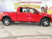 Red 2007 Ford F-150 Lariat 4WD 4-Speed Automatic with