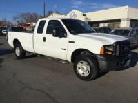 2007 FORD F-250 SUPER CAB, 4X4 POWERSTROKE DIESEL WITH