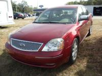 Options:  2007 Ford Five Hundred Limited|Red|12-Volt|2