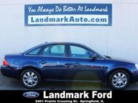 Meet our 2007 Ford Five Hundred SEL shown proudly in
