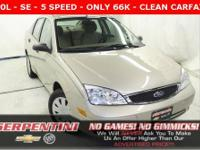 SE - CLEAN CARFAX - MANUAL TRANSMISSION - ONLY 66K -