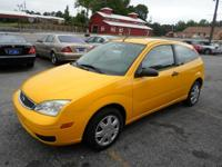 2007 FORD FOCUS ZX3 2 DOOR AUTOMATIC YELLOW ON GRAY
