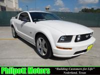 Options Included: N/A2007 Ford Mustang, white with red