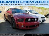 Options:  2007 Ford Mustang Gt Deluxe|Redfire Clearcoat