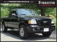 2007 Ford Ranger XLT, Black, AWD / 4WD, LOW MILES,