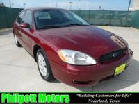 Options Included: N/A2007 Ford Taurus SEL Sedan, red
