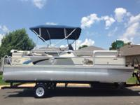 For sale is a very clean 20ft pontoon by G-3, that is