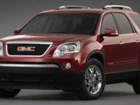 Safe and reliable, this 2007 GMC Acadia SLE makes room