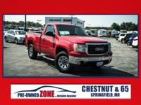 2007 GMC Sierra 1500 4x4 Work Truck in Fire Red with