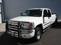 Duramax 6.6L V8 Turbocharged and 4WD. Diesel! White