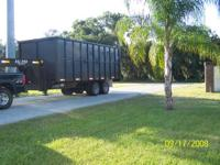 2007 GOOSE NECK DUMP TRAILER. 37 CU YARDS - GVWR 24,000