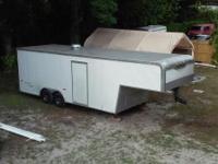 2007 very solid build 28' gooseneck enclosed car hauler