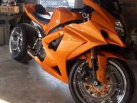 Lovely bike! Fully personalized 2007 GSXR 1000.