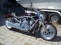 2007 Harley - Davidson V-Rod. Beautiful black cherry
